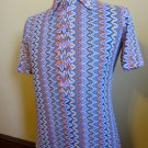 Psychedelic Hipster Vintage California Ranchwear Mens Groovy Western Shirt M 60s 70s