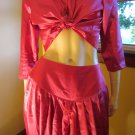 Vintage I Dream Of Jeanie Style Sexy Harem Girl Hot Pink Satin 80s Disco Outfit Costume M