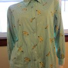 Whacky Novelty Print Krazy KooL Banana Lovers Vintage 70s Disco Shirt XL XXL unisex?