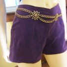 Pinup 90s does 60s Mod Purple Velvet Go Go Girl Retro Short Shorts Hot Pants Sz 7/8