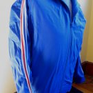 RARE VTG 80s OLD SKOOL Blue Stripes ADIDAS Ventex Athletic Jogging Tracksuit Jacket Made In FRANCE M