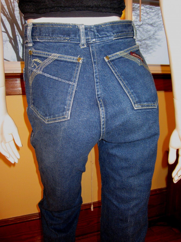 Classic Jordache Vintage Disco Designer Denim Blue Jeans