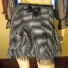 Lolita Playful Pinup Polka Dot Print Retro Mini Skirt Sz 9
