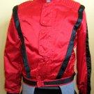 RARE Michael Jackson Style Ruby Red Satin Designer Sergio Valente Mens Disco Jacket VTG 70s 80s XL