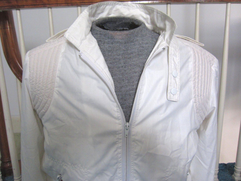 RARE White Designer SASSON Mens Disco Daddy Jacket Vintage 70s 80s Sz 40