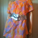 Vintage Groovy Mod 60s Pastel Psychedelic Print Go Go Blouse Top Mini Dress 2X 3X