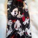 Vintage Retro Walt Disney Mickey Mouse Funny Face Novelty Print Mens Silk Neck Tie