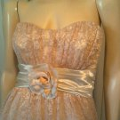 Girly Glam Chantilly Lace Strapless Retro Sweetheart Style Party Dress Sz 11