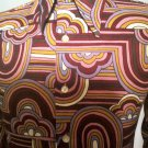 Vintage 70s King of the Groove Mens Trippy Funkadelic Polyester Disco Shirt S