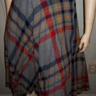 Vintage 70s School Girl Grey Plaid High Waisted Pleated Wool Skirt XS