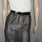 Vintage 70s Shimmery Glitter Glam Silver Metallic Sexy Party Girl Disco Dress S.