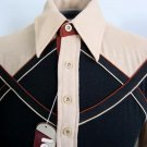 "Vintage 70s Super Swanky Double ""X"" Mens Shirt Logistix by Huk A Poo Sz M. MINT NWT NOS"