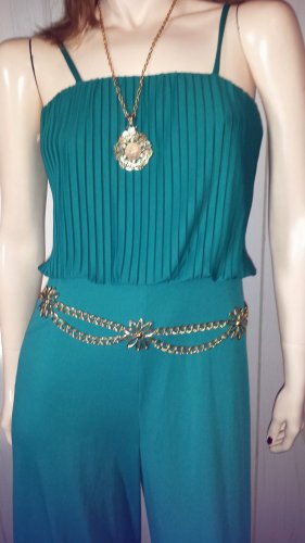 Sexy 70s Funky Disco Doll Emerald Green Party Girl Jumpsuit Sz S/M