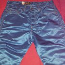 Ultimate Men's Urban Hipster Vintage 80s Cool Blue Parachute Pants PANNO D'OR SZ 32 MINT