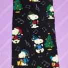 Peanuts SNOOPY I Love Christmas Musical Notes Novelty Print Mens Silk Neck Tie