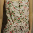Vintage 70s Rose Garden Print Boho SUN DRESS Sz L/XL