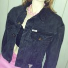 Vintage 80s GUESS By Georges Marciano Black Denim Designer Jean Jacket M UNISEX