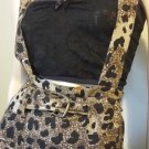 Vintage 70s Wild Leopard Cat Print Jumper Dress HAPPY LEGS Sz M