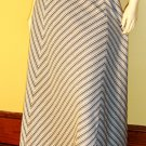 Vintage 70s Glitter Glam Metallic Chevron Striped Shimmery Maxi Skirt S. NWT disco party girl
