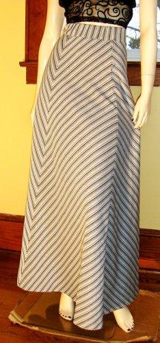 Vintage 70s Glitter Glam Metallic Chevron Striped Shimmery Maxi Skirt S. NWT disco party girl