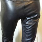 Designer LAUNDRY by SHELLI SEGAL Black Leather Biker Babe Pants Low Rise XS