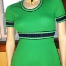 SWANKY MOD Lime Green A-line 60s 70s Mini Dress S/M