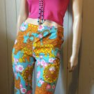 Vintage MOD 70s King of the Jungle Lion Novelty Print Big Kitty Pants XS