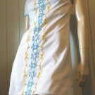 Vintage 60s 70s Designer VICKY VAUGHN JR Embroidered MOD GO GO Groovy Micro Mini Dress S XS