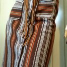 Vintage 60s SEARS Groovy Boho Hippie School Girl Brown Plaid Belted A-line Skirt NWT MINT S/XS