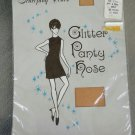 Vintage 60s MOD Gold Glitter Ex Tall Shimmery Nylon Pantyhose Nylons MINT NEW IN PKG