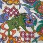 DANGEROUS CURVES 80s KIKIT Maurice Sasson Formfit Spandex FOO DOG Wild Print Curvy Mini Dress NWT M