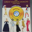 140 Great Fashion Designs 1950-2000 CD-Rom & Book by Tom Tierney NEW