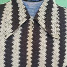 Vintage 60s 70s Swanky Swinger Semi Sheer Crazy Pattern Men's Shirt M/L