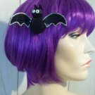 Totally Batty Creepy Cute Black Bat Hair Clip goth girl