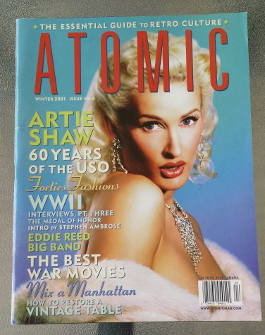 Atomic Magazine The Essential Guide To Retro Culture Winter 2001 Issue No. 8 Retro Pinups EX