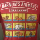 Vintage 90s Barnum's Animal Crackers Nabisco Men's Red Cotton Novelty T Shirt LEE Sz L
