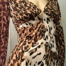 MEOW Vintage 70s Frederick's Of Hollywood Leopard Print Babydoll GO-GO Micro Mini Dress HOT! S/M
