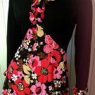 Vintage 60s Mistress of Mod Psychedelic Flower Power Print Hippie Girl Maxi Dress Gown S/M