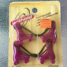 Vintage 80s DISCO ROLLER SKATES Ponytail Holders Hair Accesory Set of 2 PURPLE NEW MIP