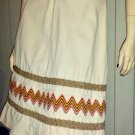 HAPPY LEGS Vintage 70s Boho Hippie Denim A-line Zigzag Pattern Skirt XS