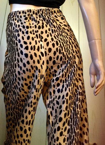 ROCKIN Vintage 60s 70s Leopard Animal Print Super High Waisted Wide Leg Jungle Kitty Pants L