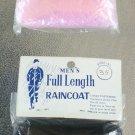 Vintage 50s 60s HIS & HERS Plastic Ladies & Mens Full Length Raincoats Foldup NIP set of 2