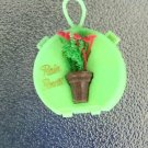 Vintage 50s 60 Rain Hat Bonnet in Mini Plastic Travel Case GREEN NIP
