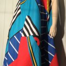 Vintage 80s 90s Osca de la Renta for SWIRL Abstract Geometric Op Art Tent Trapeze Dress Sz L