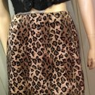 Vintage 90s does 60s MOD Leopard Animal Print Velvet Mini Skirt Sz L