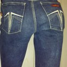 SERGIO VALENTE High Waisted Disco Designer Denim Blue Jeans SZ. 29 70s 80s