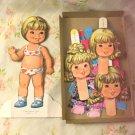 Vintage 70s Cathy Quick Curl Mattel 1975 Paper Dolls EX