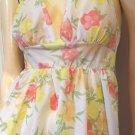 Vintage 70s Springtime Garden Floral Print Nylon Nightgown S.