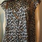MEOW Vintage Vixen 70s Vanity Fair Leopard Print Babydoll & Robe 2-piece Set M