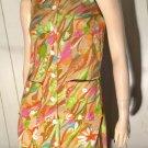 Groovy Vintage 60s Flower-Power Psychedelic MOD Shift Mini Dress S